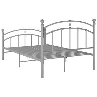 vidaXL Sängram grå metall 120x200 cm