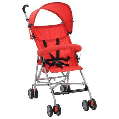 vidaXL Barnvagn hopfällbar stål röd