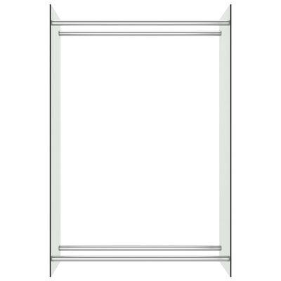 vidaXL Vedställ genomskinlig 80x35x120 cm glas