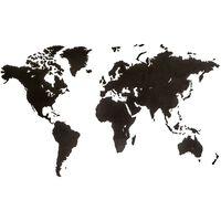 MiMi Innovations Väggdekoration världskarta Luxury svart 180x108 cm