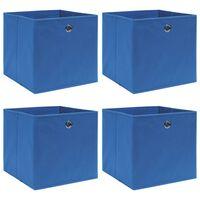 vidaXL Förvaringslådor 4 st blå 32x32x32 cm tyg