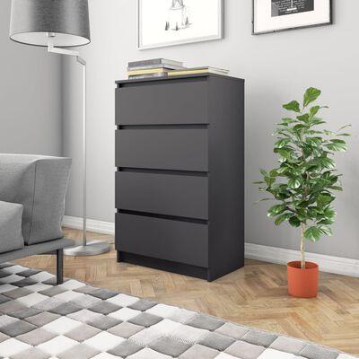 vidaXL Skänk grå 60x35x98,5 cm spånskiva