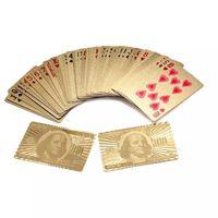 $100 Guld Plast PVC Poker Vattentäta Spelkort Kortlek