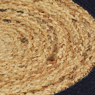 vidaXL Bordstabletter 4 st naturlig och marinblå 38 cm jute och bomull