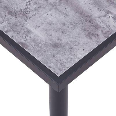vidaXL Matbord svart och betonggrå 120x60x75 cm MDF