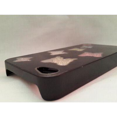 Apple Iphone 4 4S Skal Case Beads (7 Butterflys) Svart