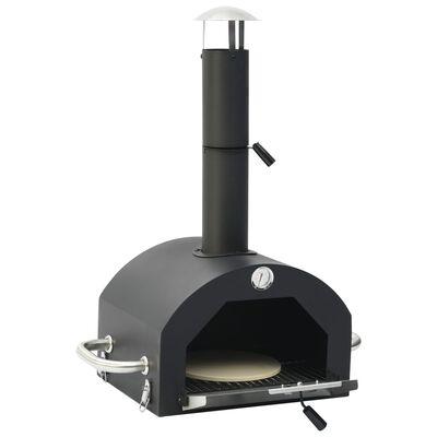 vidaXL Pizzaugn med pizzasten