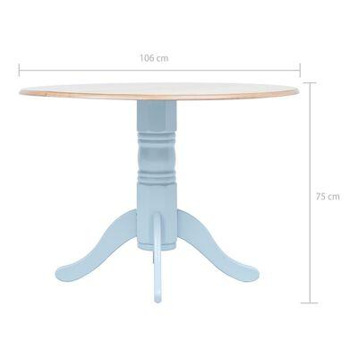 vidaXL Matbord grå och brun 106 cm massivt gummiträ