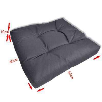 vidaXL Stoppad sittdyna 60 x 60 x 10 cm grå