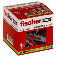 Fischer Skruvar med plugg DUOPOWER 14 x 70 S 8 st