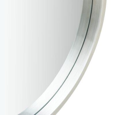 vidaXL Väggspegel med rem 40 cm silver
