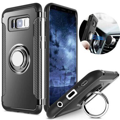 Samsung S9+ Hybrid Armor Skal Magnetic Case Svart