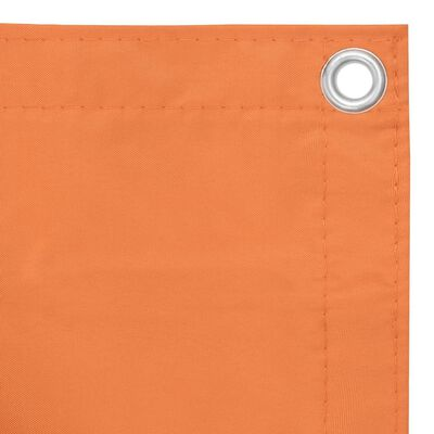 vidaXL Balkongskärm orange 75x600 cm oxfordtyg