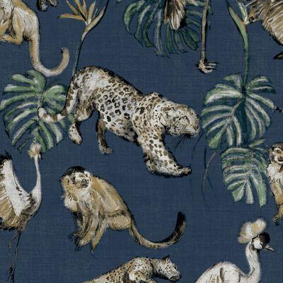 Zero Tapet Exotic Animals blå