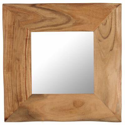 vidaXL Sminkspegel 50x50 cm massivt akaciaträ