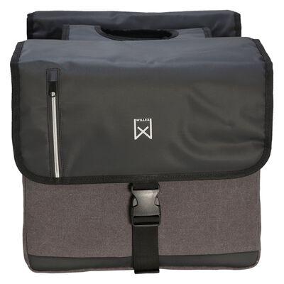 Willex Dubbel affärsväska 46 L svart och grå