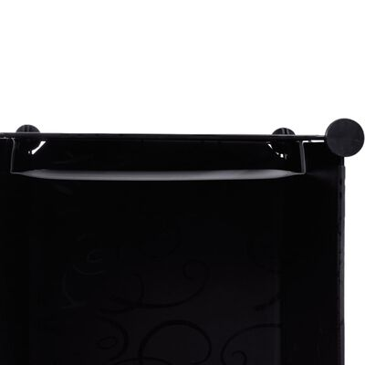vidaXL Modulär garderob 9 fack 37 x 115 x 150 cm svart och vit , Blackandwhite
