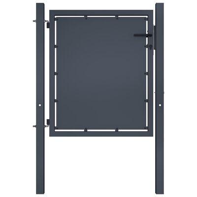 vidaXL Trädgårdsgrind stål 100x75 cm antracit