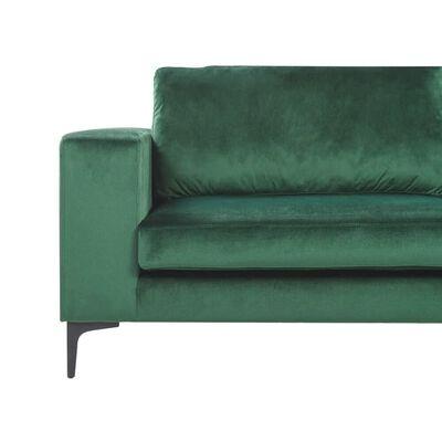 Soffa sammet grön VADSTENA