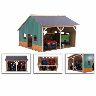 Kids Globe Traktorgarage 1:16 trä 610338