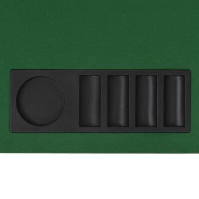 vidaXL Hopfällbar pokerbordsskiva 8 spelare rektangulärt 4-sidigt grönt