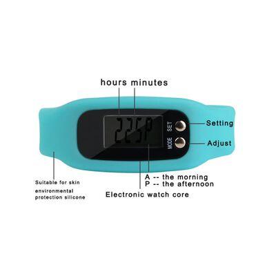 Stegräknare Pedometer Klock-modell Skön att bära - Svart