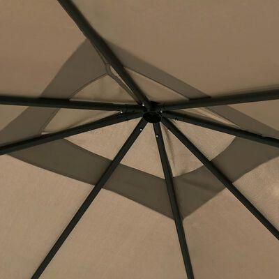 vidaXL Paviljong 3x3x2,6 m taupe 160 g/m²