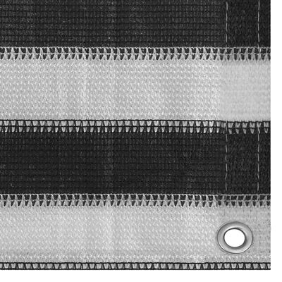 vidaXL Balkongskärm HDPE 120x500 cm antracit och vit