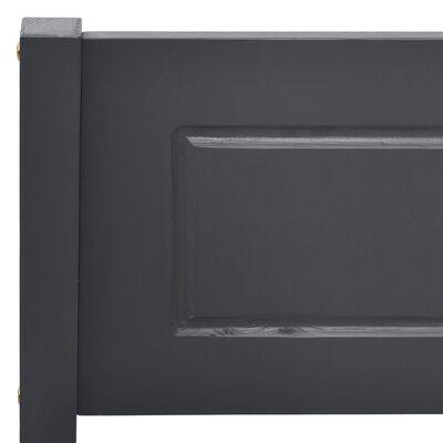 vidaXL Sängram massiv furu grå 100x200 cm