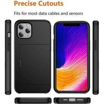 iPhone 12 Stöttåligt Skal med Kortfack
