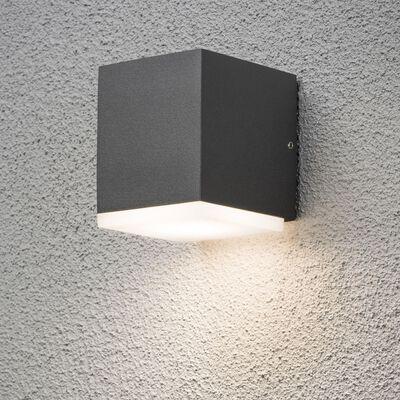 KONSTSMIDE LED vägglampa Monza 1x6W mörkgrå