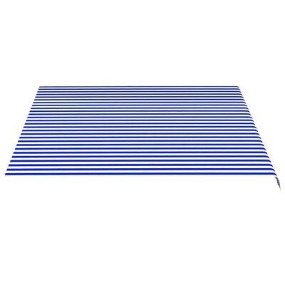 vidaXL Markisväv blå och vit 4x3,5 m