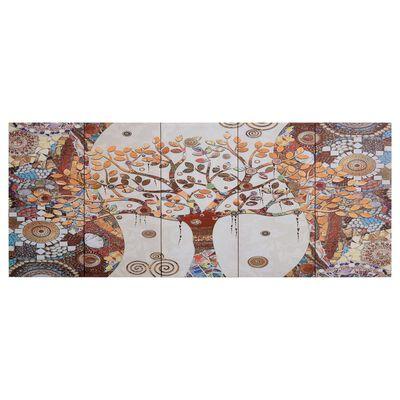 vidaXL Canvastavla träd flerfärgad 150x60 cm,