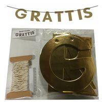 Victoria's Design Grattis Banér Girlang guld