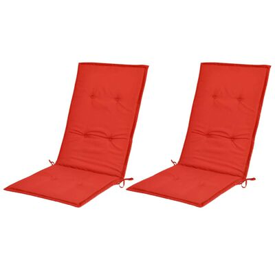 vidaXL Dynor för trädgårdsstolar 6 st röd 120x50x4 cm