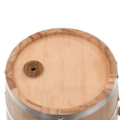 vidaXL Vintunna med kran massiv furu 12 L