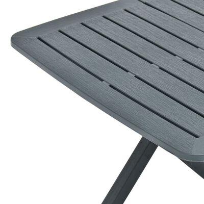 vidaXL Hopfällbart trädgårdsbord grön 79x72x70 cm plast