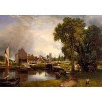 Dedham Lock and Mill,John Constable,60x42cm