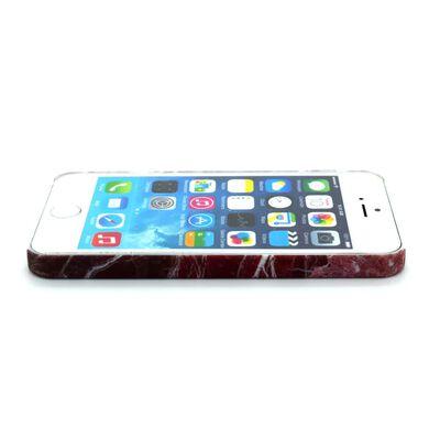 Iphone 5/5S/SE Marble Skal Skydd Case Röd