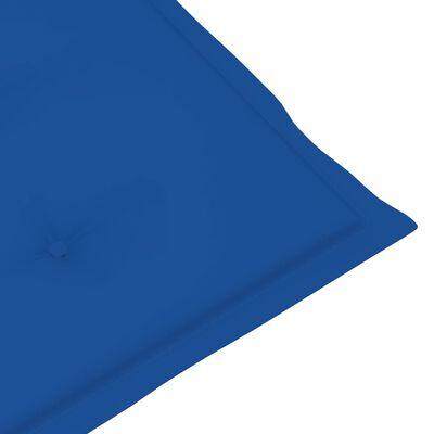 vidaXL Solsängsdyna kungsblå (75+105)x50x4 cm