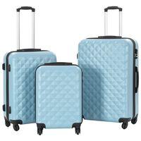 vidaXL Hårda resväskor 3 st blå ABS
