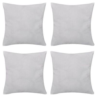 4 Kuddöverdrag i bomull vita 50 x 50 cm
