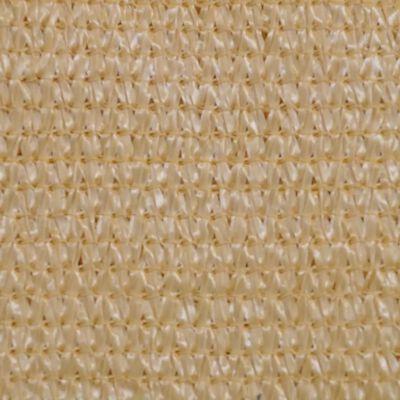 vidaXL Solskärmssegel HDPE kvadratiskt 3,6 x 3,6 m beige