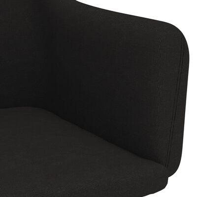 vidaXL Matstolar 2 st svart tyg