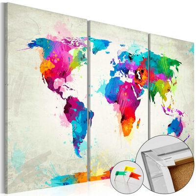 Anslagstavla - Colourful Expression   - 60x40 Cm
