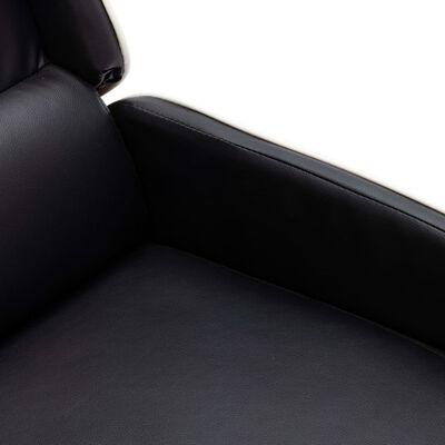 vidaXL Reclinerfåtölj svart och vit konstläder