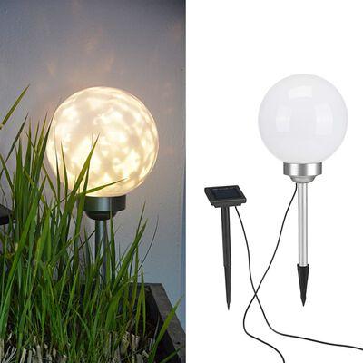 HI Soldriven LED roterande trädgårdsklot 20 cm