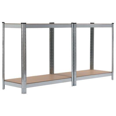vidaXL Förvaringshylla silver 80x40x160 cm stål och MDF