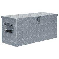 vidaXL Förvaringslåda aluminium 80x30x35 cm silver