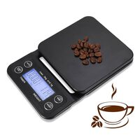Digital köksvåg / kaffevåg - svart